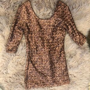 Copper NYE copper sequins dress (small)